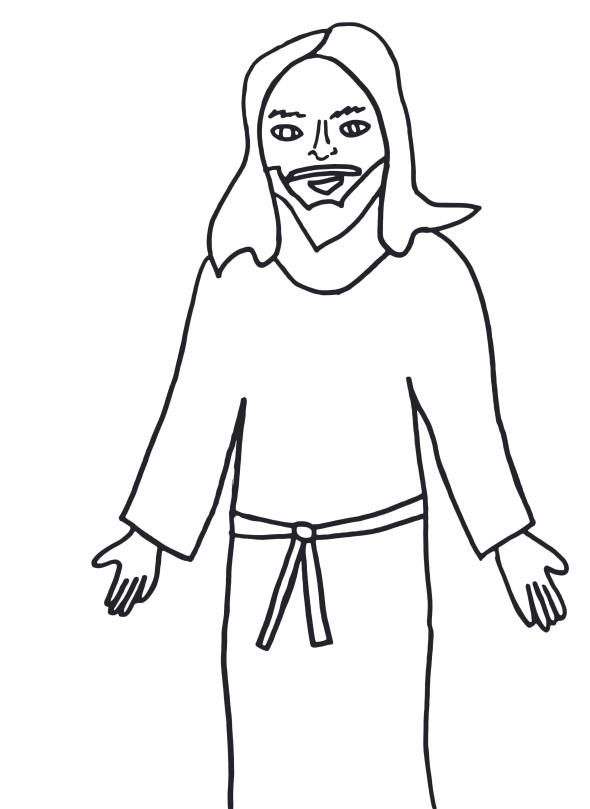 Baptism Lds White Art Black Clip Jesus