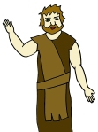 John the Baptist Cartoon Color