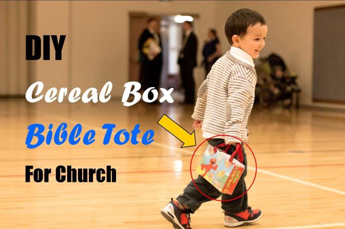 DIY Cereal Box Bible Tote for Church