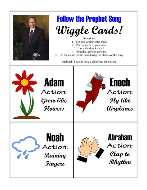 Follow the Prophet Wiggle Cards
