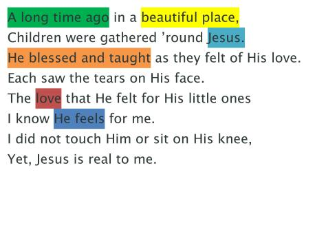 I Know that My Savior Loves Me Word Strips-page-002