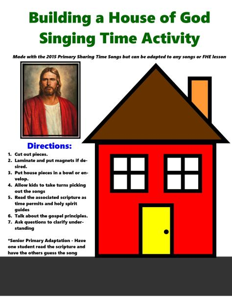Building a House of God Singing Time