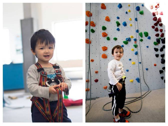 3 year old Rock Climber