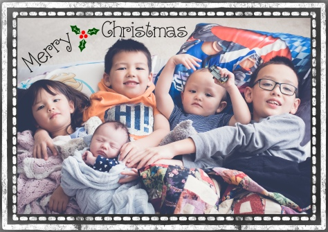 Christmas Card Back